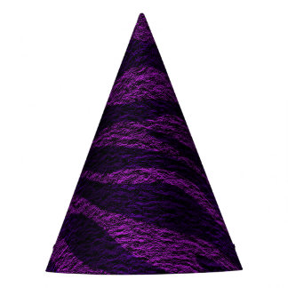 Purple Zebra Print Wild Jungle Birthday Party Party Hat
