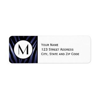 Purple Zebra Stripe Return Address Label