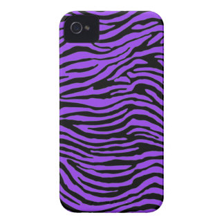 purple zebra stripes Case-Mate iPhone 4 case