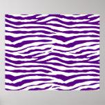 Purple Zebra Stripes Poster