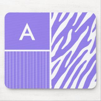 Purple Zebra Stripes; Stripe Mousepads
