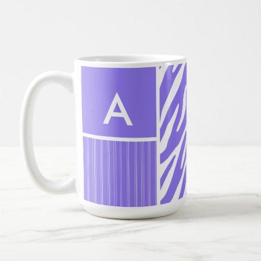 Purple Zebra Stripes; Stripe Coffee Mug