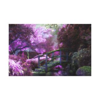 Purple Zen Garden Canvas Print