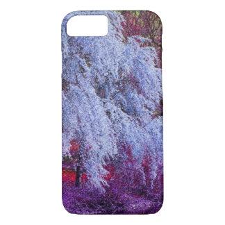 Purple Zen Japanese Sakura cherry blossom iPhone 7 Case