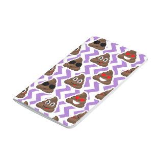 Purple Zig Zagged Poop Emoji Pattern Journal