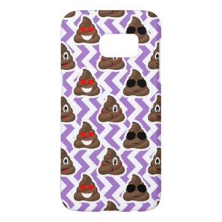 Purple Zig Zagged Poop Emoji Pattern Samsung Galaxy S7 Case