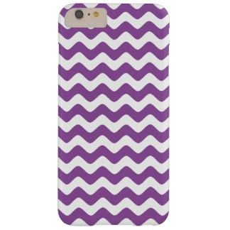 Purple Zigzag Chevron Pattern Girly Barely There iPhone 6 Plus Case