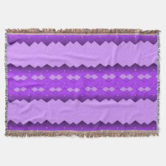 Purple Zigzag Comfy Throw Blanket