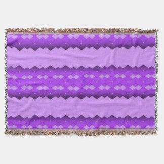 Purple Zigzag Design Throw