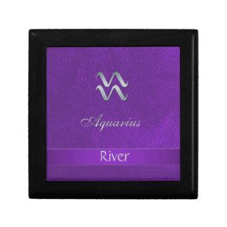 Purple Zodiac Sign Aquarius Gift Box