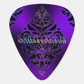 Purple Zodiac Sign Sagittarius Tribal Guitar Pick