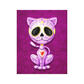 Purple Zombie Sugar Kitten Canvas Print