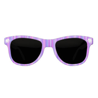 Purples and Pink with White Elephants Sunglasses