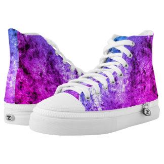 Purplish Dazzling Hi Top Sneakers