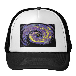 Purplr Peacock Twisted Trucker Hat