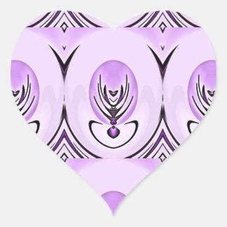 Purply Violet Heart Sticker