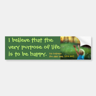 purpose bumper sticker