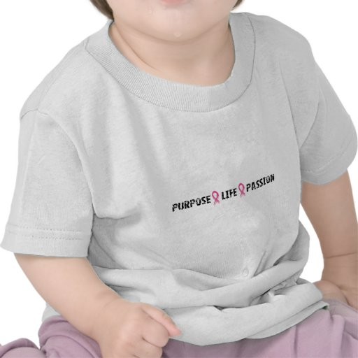 Purpose life passion breast cancer t-shirt
