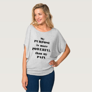 Purpose Over Pain gray slouchy tee