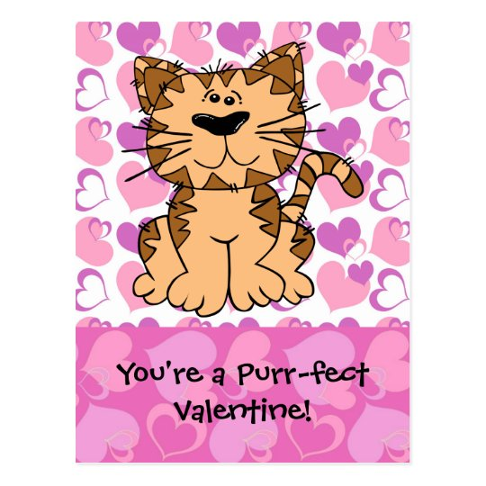 Purr-fect Valentine Postcard