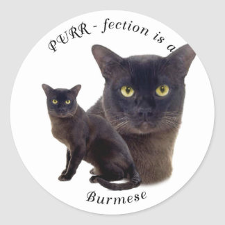 PURR-fection Brown Burmese Classic Round Sticker