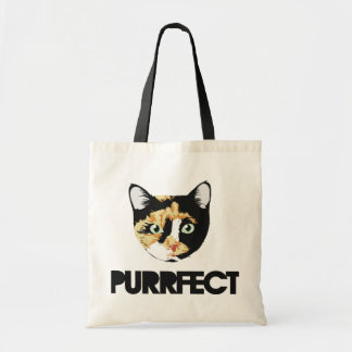 Purr kitty tote bag