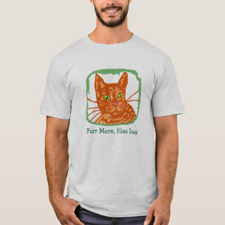 """Purr More Hiss Less"" Orange Tabby T-shirt"
