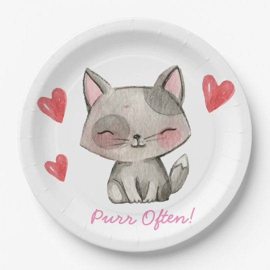 Purr often 9inch plates 9 inch paper plate