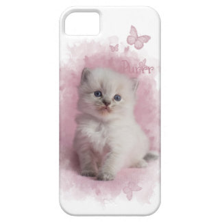 Purr Pink Kitten iPhone 5 Cover