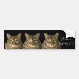 Purr power bumper sticker