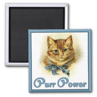 Purr Power Square Magnet