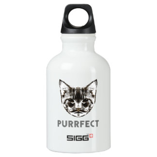 Purrfect beverage container water bottle