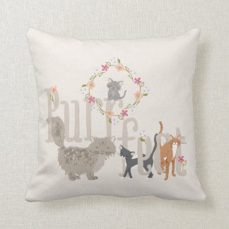 Purrfect Cats Throw Pillow