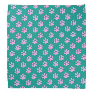 Purrfect Pink Paw Prints Bandanna