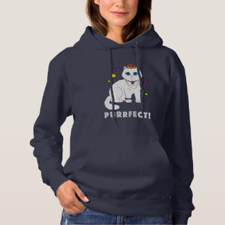 Purrfect Princess Cat Hoodie