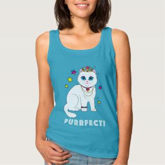 Purrfect Princess Cat Tank Top