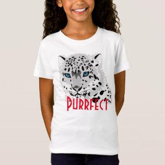 """Purrfect"" snow leopard graphic T-Shirt"