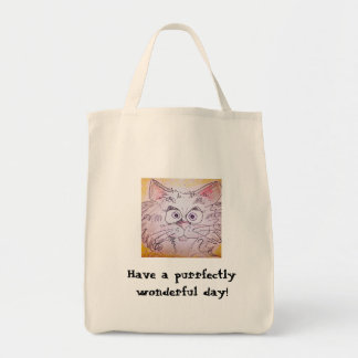Purrfectly wonderful tote bag