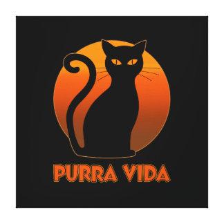 Purring Cat And Sun Purra Vida Pure Life Funny Canvas Print