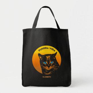 Purring Cat And Sun Purrra Vida Pure Life Cool Tote Bag