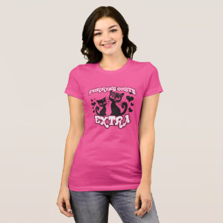 Purring Costs Extra Cute Cats Love Hearts T-Shirt