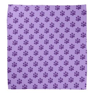 Purring Purple Paw Prints Kerchiefs