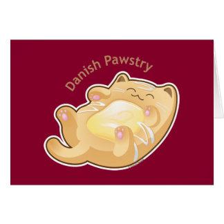 Purrista Pawfee: Cute Danish Pastry Cat Card