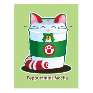 Purrista Pawfee - Cute Holiday Coffee Cat Postcard
