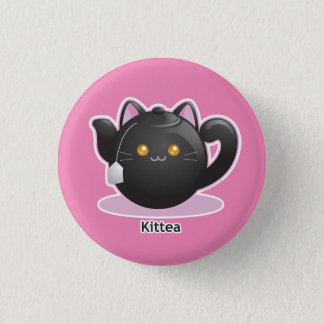 Purrista Pawfee: Kitty Tea Pot 1 Inch Round Button