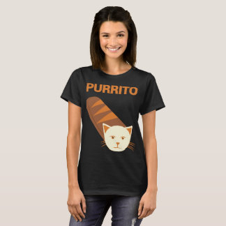Purrito Cat Novelty cat T-shirt