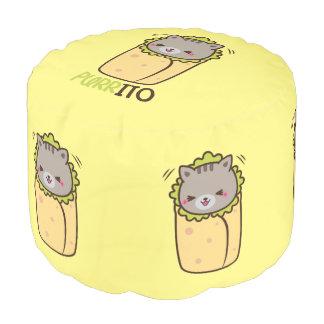 Purrito Kitty Burrito Pillow Pouf