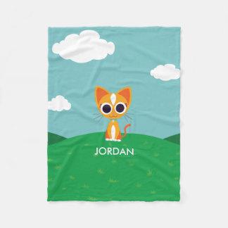 Purrl the Cat Fleece Blanket