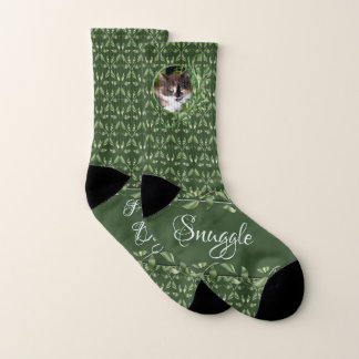 Purrrfect Day Calico Cat Socks