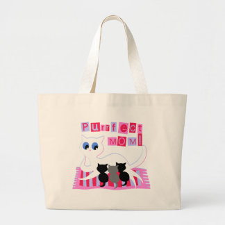 Purrrfect Mom Canvas Bags